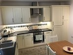 Well equipped spacious kitchen