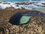 A natural bath rock pool