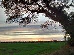 Sunset over East Ruston