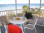 Screened Beach Front Corner Balcony