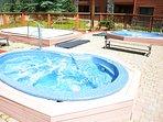 3 outdoor hot tubs