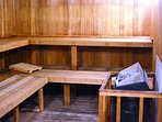 Relax and unwind in the dry sauna!