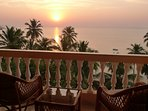Sunrise from the master bedroom balcony