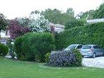 Garden and car parking.