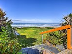 Enjoy ocean views from the large, private deck!