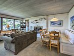 Inside, this oceanfront home boasts 3 bedrooms and 1 bathroom.