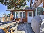 Step outside for fresh air on the deck.