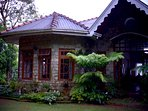 View of the front entrance, The stone facade,a common feature of up-country tea plantation bungalows