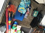Our garage has a treasure trove of items for the beach!