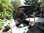 secret pond and decks off master bedroom, great spot!