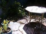 Sun trap patio
