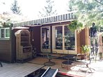 tiny house/cottage. 400 sq ft, 3 private decks, nestled in pines & part of our animal sanctuary