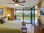 Country Club Villas #208 - Ocean View Master Bedroom