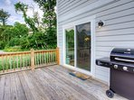 Back deck and grilling area