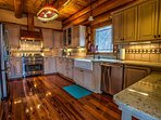 Charming and roomy fully furnished kitchen