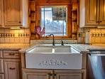 Kitchen view featuring an antique style sink