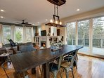 Dining area with easy access to deck!