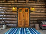 Welcoming cabin entrance