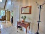 Foyer leading into living room