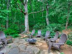Fire pit with plentiful outdoor seating