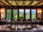 Dining room table with magnificent view