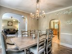 Elegant dining room with seating for 6