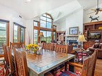 Take in the views of Beaver Creek Mountain from the kitchen, living, dining room and deck.