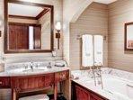 Luxury Bathroom W/ Bathtub and Walk-in Shower