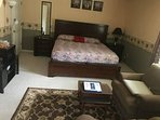 large master room with king bed
