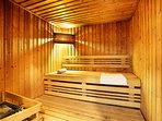 Warm up in the sauna after a wonderful day outside.