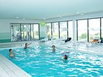Spend time with loved ones in the heated indoor pool, open year-round!