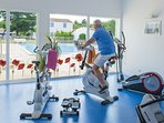 Keep up your fitness routine at the fully-equipped gym on-site.