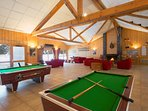 Shoot some pool in the main communal lounge with your loved ones.