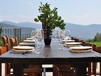 Al-fresco dining with a vista from heaven.
