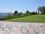 Amazing views across the valley.  Short walk to Cortona. Fabulous