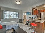 Everyone can sprawl out in the open-concept floor plan.