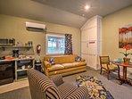 Take a midday nap on the living room sofa!
