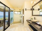 Master bathroom, dual vanity, ocean view walk in shower