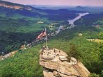Breathtaking views from nearby Chimney Rock