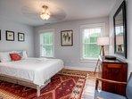 Tastefully appointed master bedroom