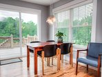 Dining table with access to back deck