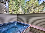 The hot tub is sure to be a favorite amenity at the townhome.
