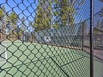 Stroll over to the tennis courts for a morning warm up.