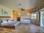 Spaciousness defines the master bedroom suite.