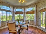 Begin your days with a meal in the sun-soaked breakfast nook.