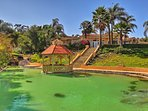 'Valle Vento' offers a koi pond, pool, waterfalls and lush landscaped grounds.