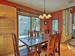 Gather around this elegant dining area for fun family dinners.