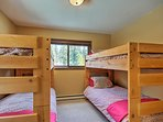The kids will love the bunk beds in the second bedroom.