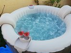 you can enjoy the private terrace with a Jacuzzi where to relax or sip a glass of wine.