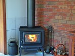 option to light the cosy wood fire - perfect for winter nights